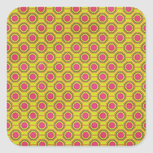 1161_geometric-05 GREENISH YELLOW   CLOUDY ABSTRAC Square Stickers