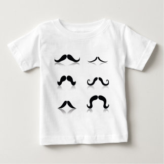 116Set of Mustaches_rasterized Baby T-Shirt