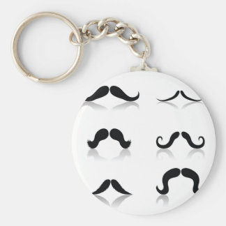 116Set of Mustaches_rasterized Key Ring