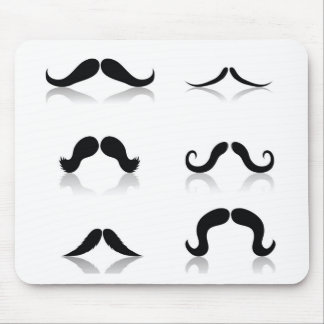 116Set of Mustaches_rasterized Mouse Pad