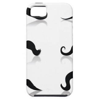 116Set of Mustaches_rasterized Tough iPhone 5 Case