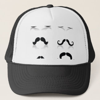 116Set of Mustaches_rasterized Trucker Hat