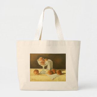 1181 Peaches in Glass Compote Canvas Bags