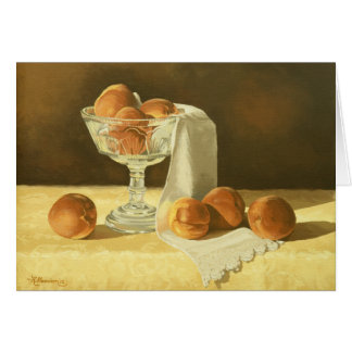 1181 Peaches in Glass Compote Birthday Card
