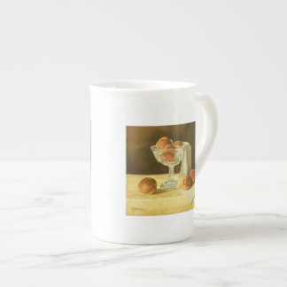 1181 Peaches in Glass Compote Bone China Mug