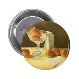 1181 Peaches in Glass Compote Button