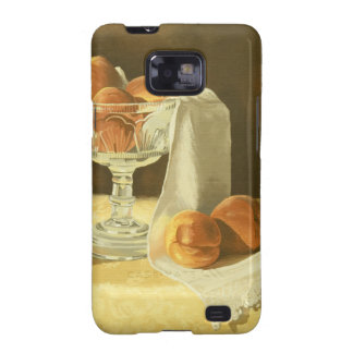 1181 Peaches in Glass Compote Samsung Galaxy SII Cases