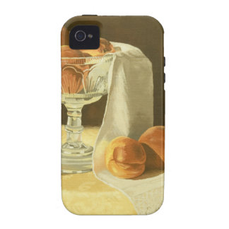 1181 Peaches in Glass Compote iPhone 4 Covers