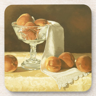 1181 Peaches in Glass Compote Beverage Coasters
