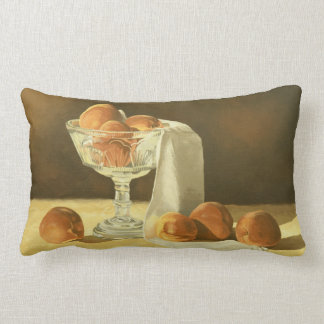 1181 Peaches in Glass Compote Throw Pillows