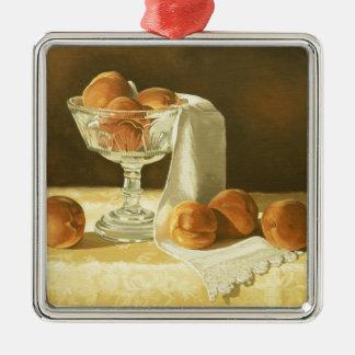 1181 Peaches in Glass Compote Ornament