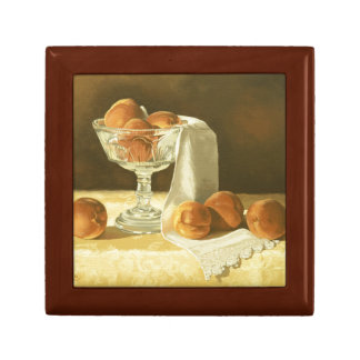 1181 Peaches in Glass Compote Trinket Box