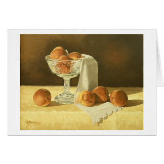 1181 Peaches in Glass Compote Greeting Card