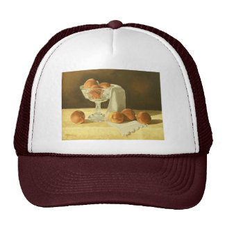 1181 Peaches in Glass Compote Hat