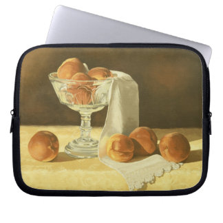 1181 Peaches in Glass Compote Computer Sleeves