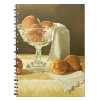 1181 Peaches in Glass Compote Spiral Notebooks