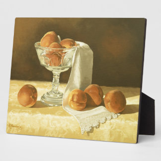 1181 Peaches in Glass Compote Photo Plaque