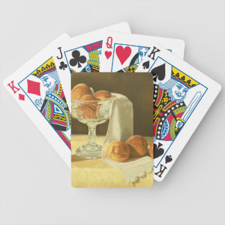 1181 Peaches in Glass Compote Deck Of Cards