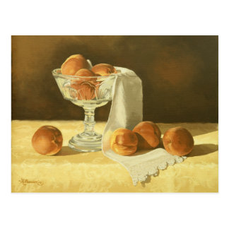 1181 Peaches in Glass Compote Postcard