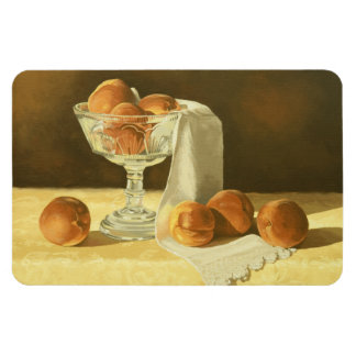 1181 Peaches in Glass Compote Rectangle Magnet