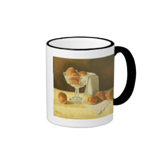 1181 Peaches in Glass Compote Ringer Mug