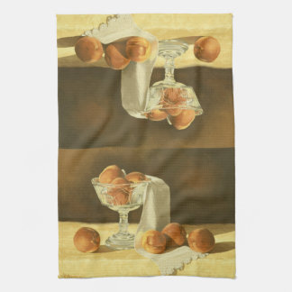 1181 Peaches in Glass Compote Tea Towel