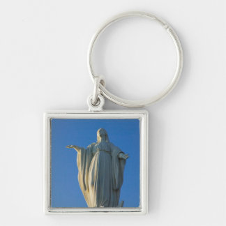 118-foot statue of the Virgin Mary on San Silver-Colored Square Key Ring