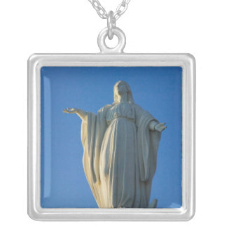 118-foot statue of the Virgin Mary on San Square Pendant Necklace