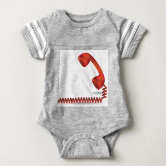 118Red Rhone _rasterized Baby Bodysuit