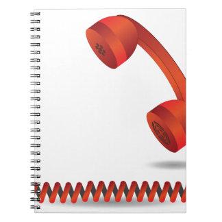 118Red Rhone _rasterized Spiral Notebook