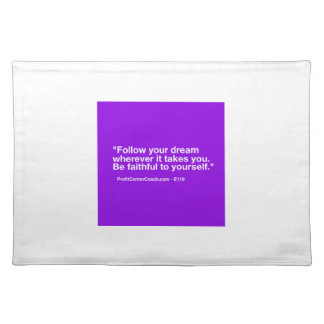 119 Small Business Owner Gift - Follow Dream Place Mat