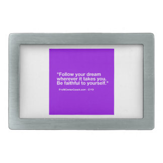 119 Small Business Owner Gift - Follow Dream Rectangular Belt Buckle