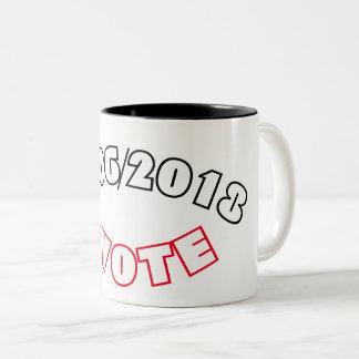 11/06/2018  #VOTE Two-Tone COFFEE MUG