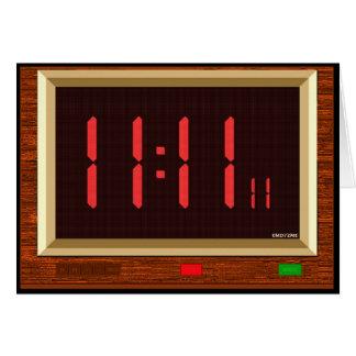 11:11 Clock (Red) Greeting Card