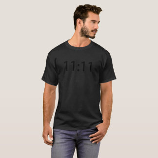 11:11 T-Shirt Blk letters on Blk