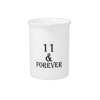 11 And  Forever Birthday Designs Pitcher