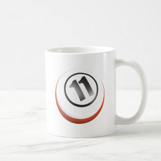 11 Ball Basic White Mug