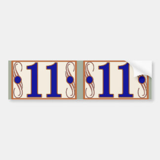 11 Maguire House Numbers 2 Bumper Sticker
