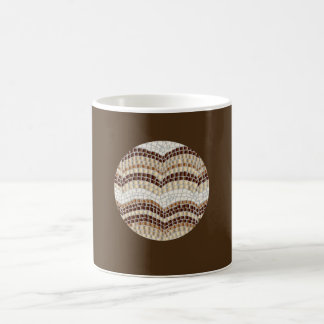 11 oz classic mug with beige mosaic