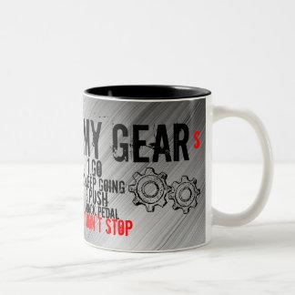"11 oz Mug, ""MY GEARS"" Two-Tone Mug"