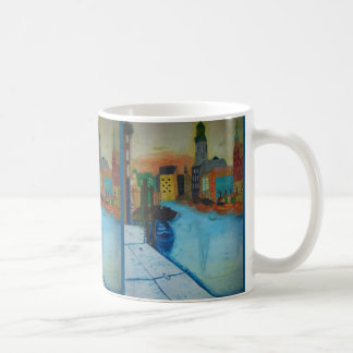 11 oz Mug with Fine Art Decor Hamburg Fleet