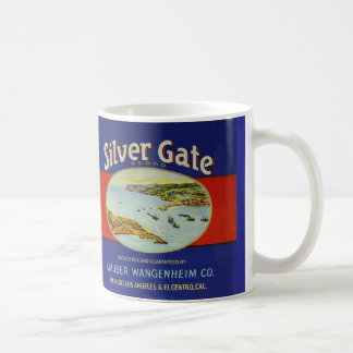 11 oz. mug with vintage salmon can label art work