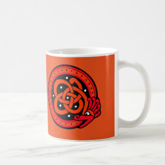 11 oz. Orange Dragon Circle Knot Mug