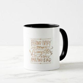 11 oz White mug, dad and daughter Mug