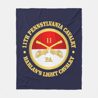 11 PA Cavalry Fleece Blanket