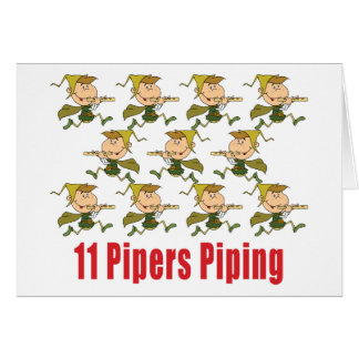 11 Pipers Piping Cards
