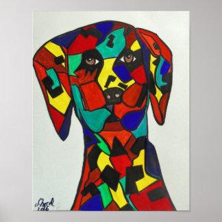 "11""x14"" Abstract Art - Dalmatian Painting Poster"