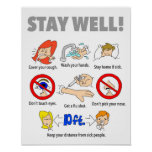"""11""""x14"""" STAY WELL Poster"""