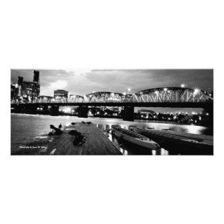 11 x 26 Hawthorne Bridge at Night Photo Art