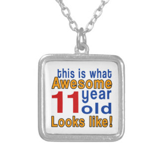 11 year old looks like silver plated necklace